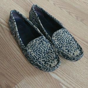 Stuart Weitzman Leopard Print Loafer/Driving Shoe